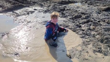 Samuel Desjardins, 12, stuck in sinkhole