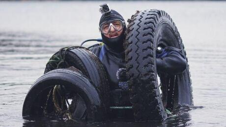 Shawn Bath with tires