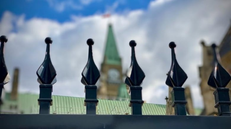 parliament hill centre block peace tower fence national security