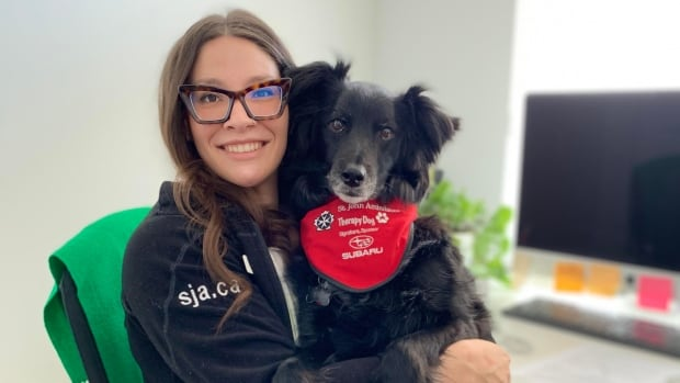 Therapy dogs bring 'pawsitive' mental health support through virtual visits | CBC News