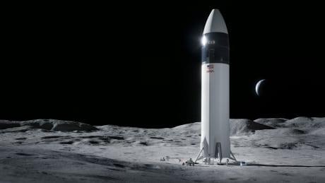 NASA SpaceX human lunar lander