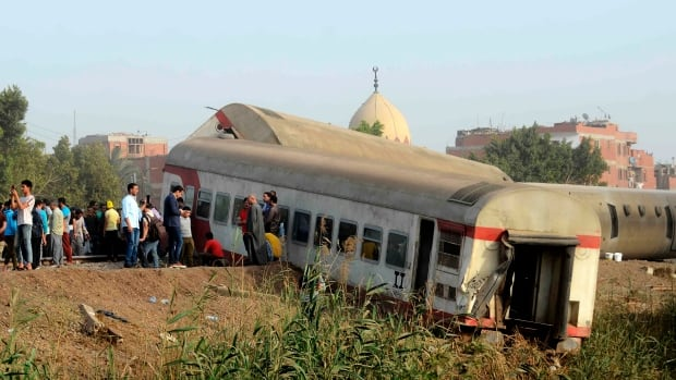 At least 11 killed, dozens injured in Egypt passenger train derailment | CBC News