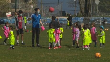 Slocan Park children's soccer camp