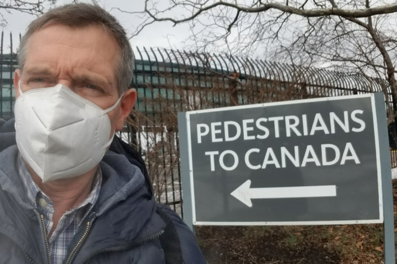 Since the three-day hotel quarantine rule took effect in February, Peacock has walked across the border into Canada twice on his way home from Los Angeles, where his wife lives. (Greg Peacock)