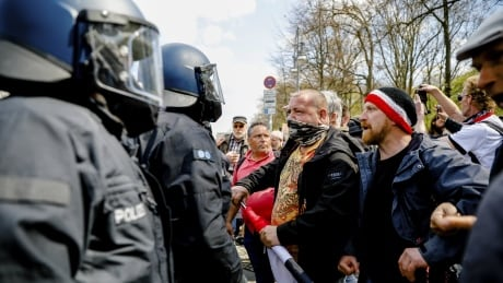 Virus Outbreak Germany Protest