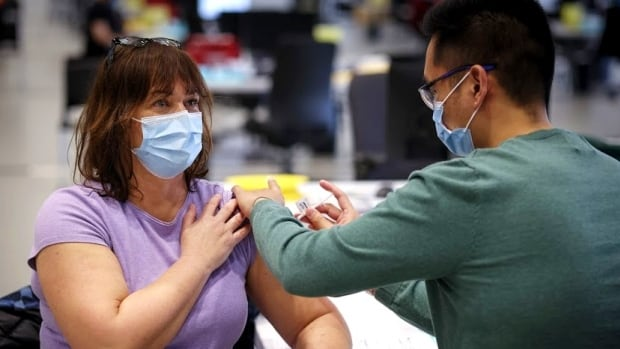 Telus Convention Centre Vaccination Bonnie Carlson