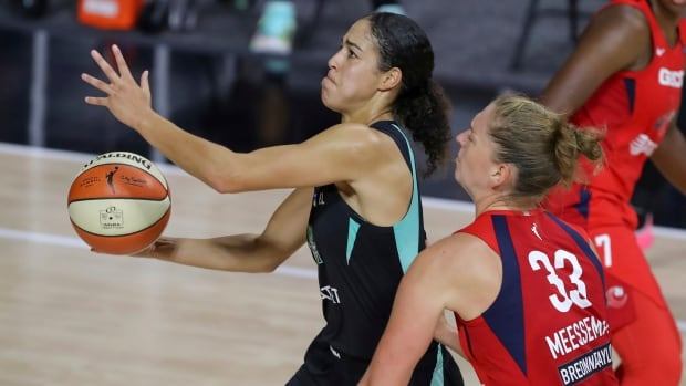 Canadian basketball star Kia Nurse is carving out space in sports broadcasting