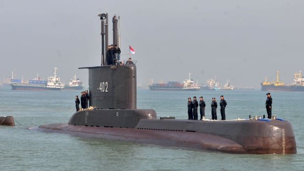Rescue teams race against time for Indonesian submarine with 53 aboard   CBC News