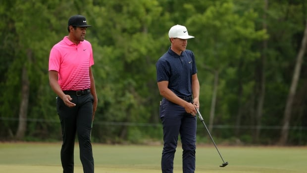 American duo Finau-Champ fire into share of lead heading into weekend at Zurich Classic | CBC Sports