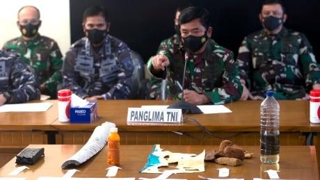 Indonesian Military chief Hadi Tjahjanto speaks to media
