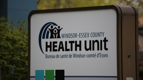 WECHU Windsor-Essex County Health Unit sign