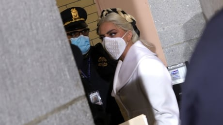 Lady Gaga arrives at inauguration of U.S. President Joe Biden