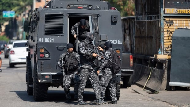 Brazilian police raid in Rio slum leaves 25 dead, authorities say