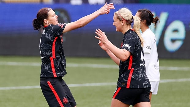 Canada's Christine Sinclair helps Portland to Challenge Cup title in penalties