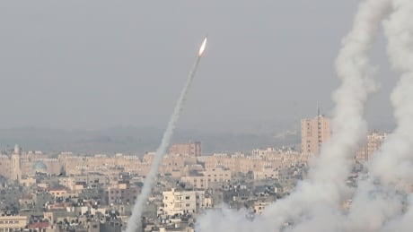 Israel responds to Hamas rockets with airstrikes after Israeli police and Palestinian protesters clash