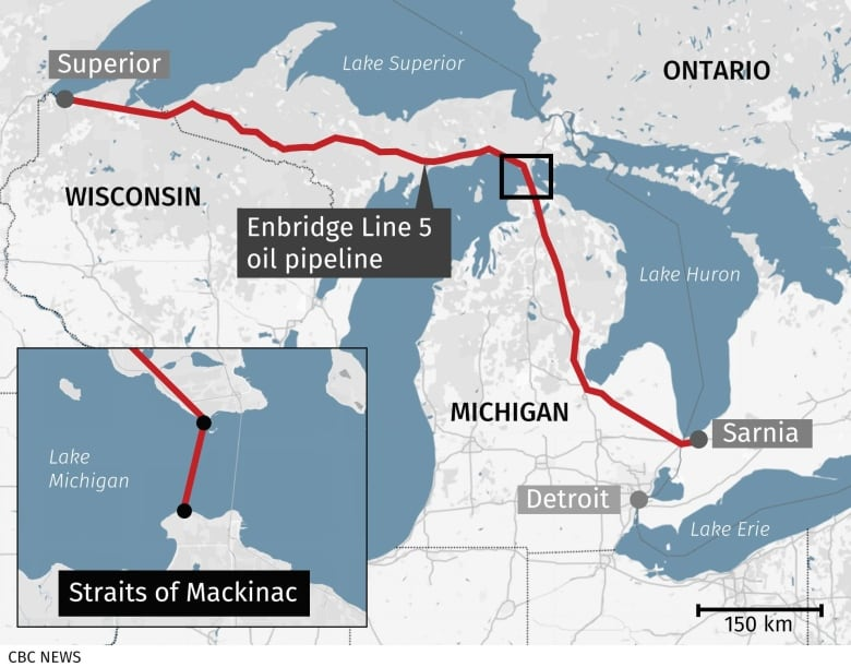 Canadians who rely on Line 5 on edge as Michigan's deadline looms to shut Enbridge pipeline