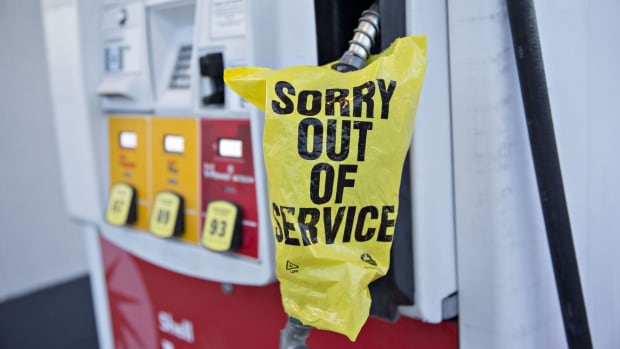 shell gas pump out of service