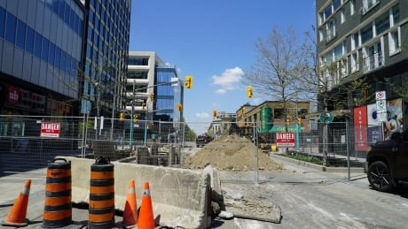 <div>Business owners 'completely caught off guard' by construction work in downtown Kitchener</div>