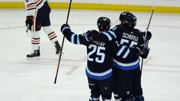 Jets bring out brooms to sweep Oilers in triple OT | CBC Sports