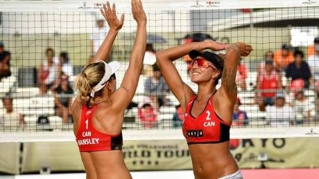 FIVB Women's Beach Volleyball World Tour on CBC - Pavan/Humana-Paredes (CAN)  vs Sweat/WalshJennings (USA)