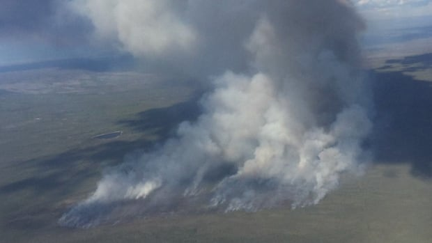 Out-of-control wildfire caused by lightning declared in Dehcho region
