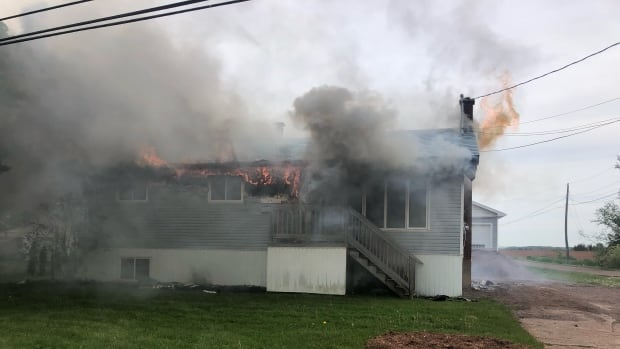 Miscouche house fire displaces family of 4