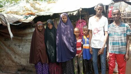 Family in Dadaab refugee camp, Kenya