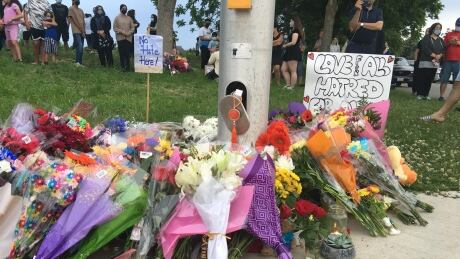 Memorial grows for Muslim family in London, ont