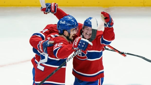 Habs beat Jets in 3-2 overtime victory to complete series sweep   CBC Sports