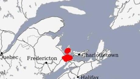 PEI Lightning map, 3 p.m. June 8, 2021