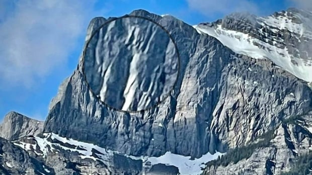 'Big boom' of rockfall near Canmore startles residents | CBC News