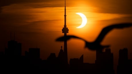 Annular eclipse as viewed in Toronto on June 10, 2021