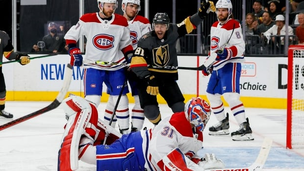 Golden Knights roll past Canadiens in Stanley Cup semifinal opener