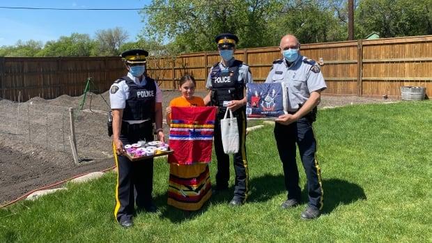 'It acknowledges our place': RCMP explores adding ribbon skirt as part of ceremonial uniform | CBC News