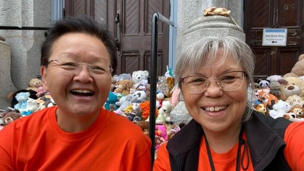 Residential school survivor finds forever homes for shoes, stuffies left at vigil for Kamloops children