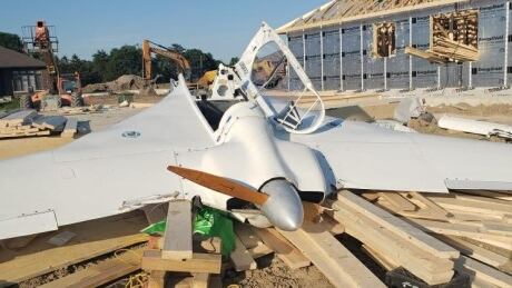 Downed plane in Dutton, Ontario