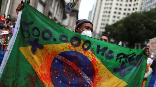 Anti-Bolsonaro protests held across Brazil as country's COVID-19 death toll nears 500,000