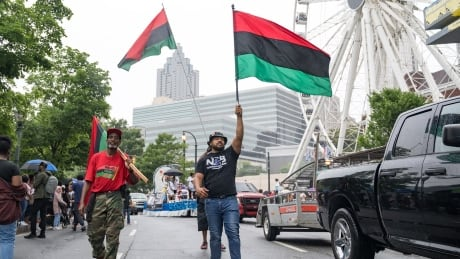 Parade taking place in Atlanta for Juneteenth on June 19, 2021
