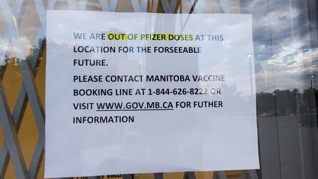 Osborne Village pharmacy runs out of Pfizer doses | CBC News