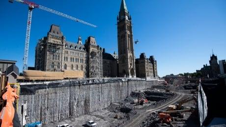 2021 Parliament Centre Block Rehabilitation construction