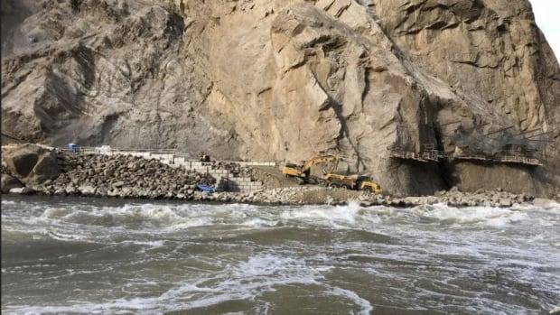 Wildfires, floods and rock slides force pause on permanent fishway project at Big Bar landslide site
