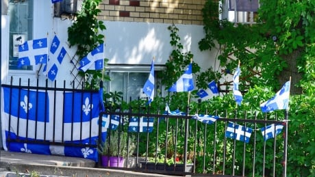 Fête nationale flags quebec