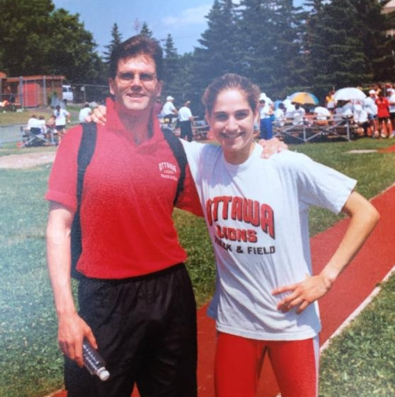 mary anne richards peter des brisay track meet