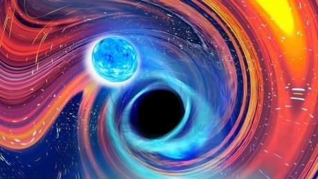 Image of neutron-black hole merger