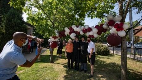 High school grad ceremony