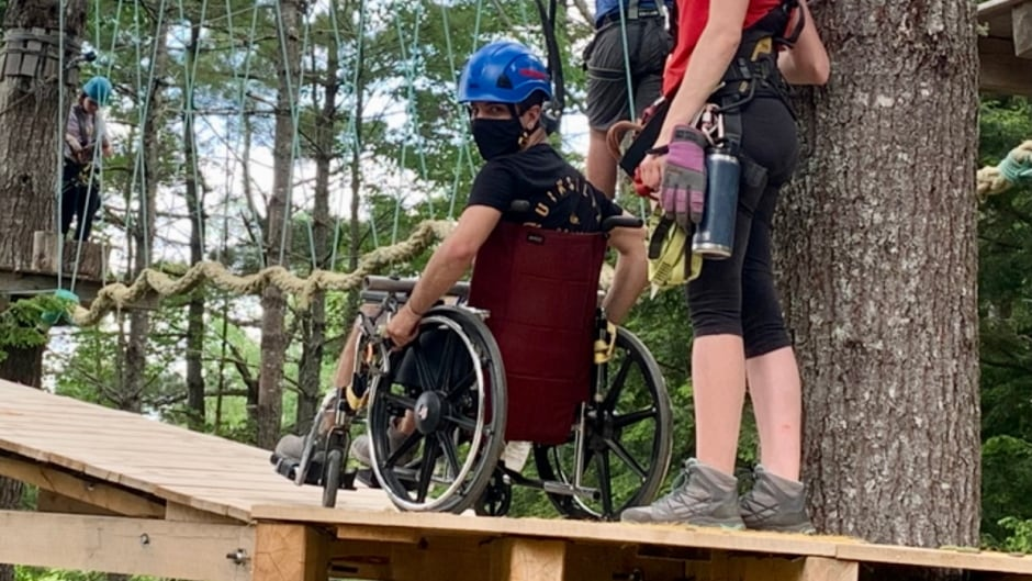 Nova Scotia zipline course now available for wheelchair users | CBC News