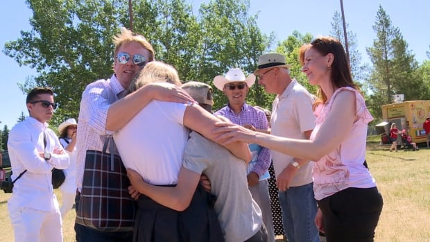 Alberta health minister and family swarmed by COVID protesters on Canada Day