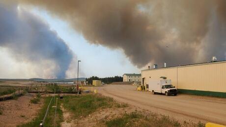 Cigar Lake mine wildfire 2