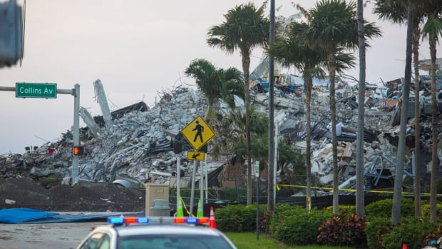 Search back on after rest of partially collapsed Miami-area condo demolished