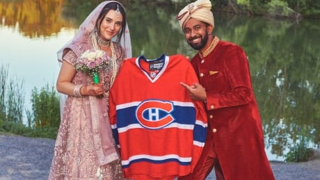 Jewish and Hindu rituals were part of our wedding — along with our beloved Habs Image 1